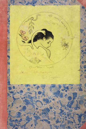 Design for a Plate - Leda, 1889-Paul Gauguin-Giclee Print
