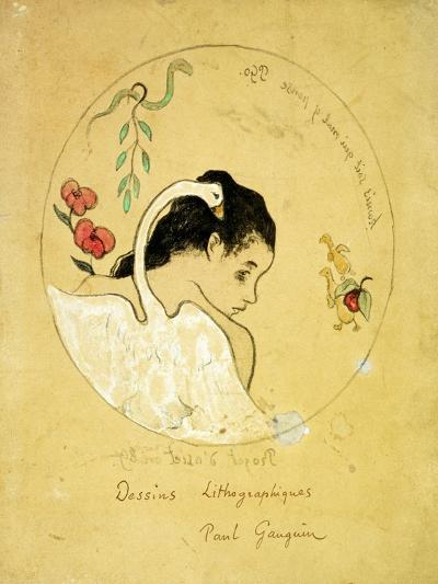 Design for a Plate - Leda and the Swan, 1889-Paul Gauguin-Giclee Print