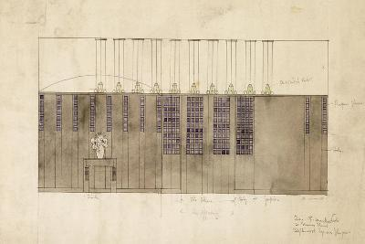 Design for a Wall, Table and Doors, for A.S. Ball, Berlin, 1905-Charles Rennie Mackintosh-Giclee Print