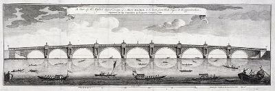 Design for Blackfriars Bridge, London, 1760-Robert Mylne II-Giclee Print