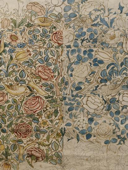 Design for Chintz: Rose-William Morris-Giclee Print