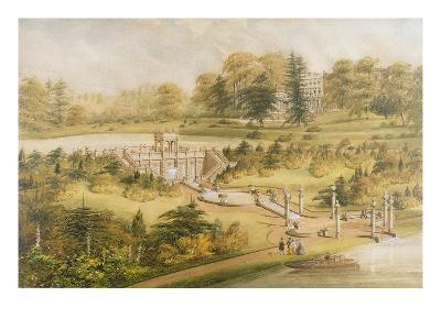 Design for Cowley Manor, C.1860 (W/C, Pen and Ink on Paper)-George Somers Clarke-Giclee Print