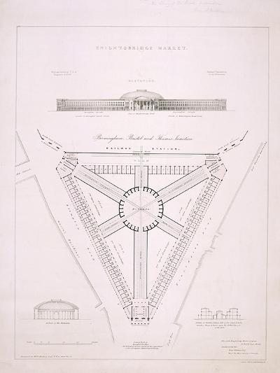 Design for Knightsbridge Market, London, C1840-JR Jobbins-Giclee Print