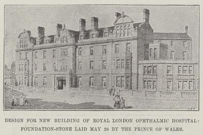 Design for New Building of Royal London Ophthalmic Hospital--Giclee Print