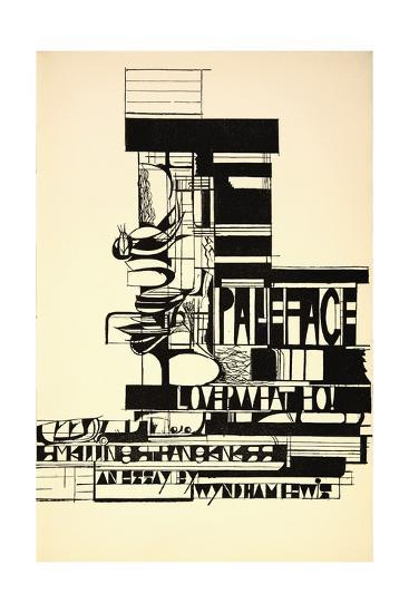 Design for Paleface-Wyndham Lewis-Giclee Print
