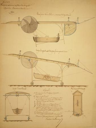 Design for Powering an Airship, c.1853-Vaussin-chardanne-Art Print