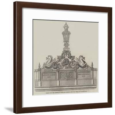 Design for the Centre of the New Bridge over the Wear at Sunderland--Framed Giclee Print