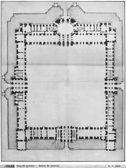 Design For the Eastern Buildings of the Louvre, from Recueil du Louvre-Louis Le Vau-Giclee Print