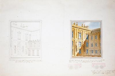 Design for the Inner Court, Chatsworth-Sir Jeffry Wyatville-Giclee Print