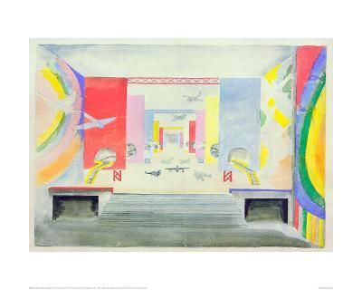 Design for the Interior of the Aviation Pavillion at the World Exhibition in Paris, 1937-Robert Delaunay-Giclee Print