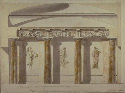 Design for the Large Cabinet in the Pavlovsk Palace, Early 1780S-Charles Cameron-Giclee Print