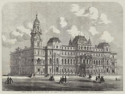 Design for the New Government Offices, the Foreign Department (Coe and Hofland, Architects)--Giclee Print