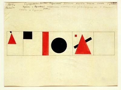 Design for the Speaker's Rostrum, 1919-Kasimir Malevich-Giclee Print