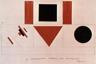 Design for the Speaker's Rostrum, 1919-Kazimir Malevich-Giclee Print
