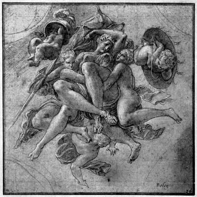 Design for the Ulysses Gallery, Fontainebleau, C1540S-Francesco Primaticcio-Giclee Print