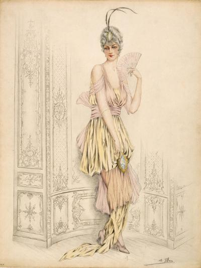 Design for Womans Court Dress, by Jules De Ban, 1920--Giclee Print