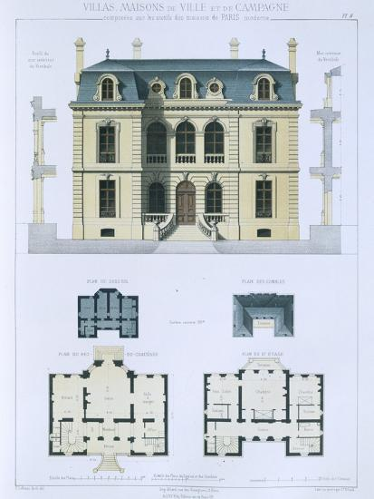 Design from 'Town and Country Houses Based on the Modern Houses of Paris', C.1864 (Colour Litho)- Leblanc-Giclee Print