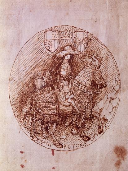 Design of Alfonso of Aragon's Medal-Antonio Pisanello-Giclee Print