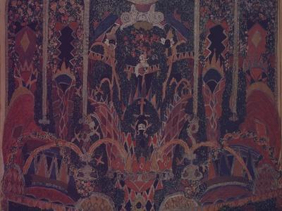 Design of Masquerade Curtain for the Theatre Play the Masquerade by M. Lermontov, 1917-Alexander Yakovlevich Golovin-Giclee Print