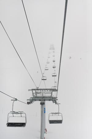 A Chairlift at a Ski Resort; Whistler British Columbia Canada
