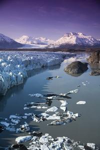 Aerial of Knik and Colony Glacier Matanuska Valley Chugach Mountains Southcentral Alaska Summer by Design Pics Inc