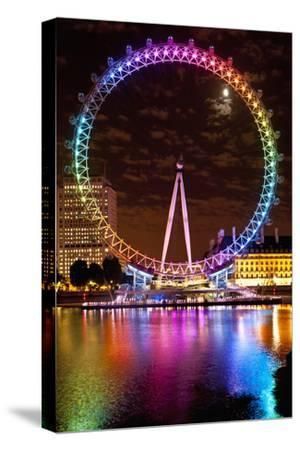 Big Wheel Aka London Eye Lit Up with the Rainbow Colours During Pride Night