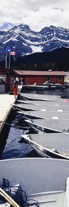 Boats Moored at Lake Minnewanka by Design Pics Inc