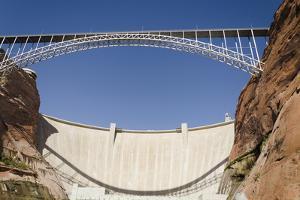 Bridge Crossing Colorado River and Glen Canyon Dam; Arizona United States of America by Design Pics Inc