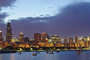Chicago Skyline at Dusk by Design Pics Inc