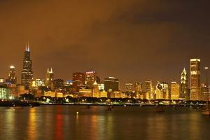 Chicago Skyline at Night by Design Pics Inc