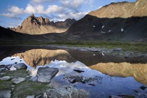 Clearwater Mountains Reflecting in Lake in Interior, Alaska During Summer by Design Pics Inc