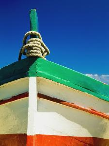 Close Up of Bow of Fishing Boat Painted with Italian Colors by Design Pics Inc