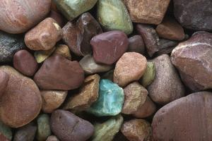 Close-Up Pattern of River Rocks Alaska by Design Pics Inc