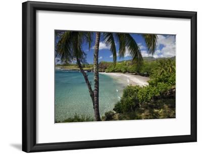 Hawaii, Maui, Hana, a Sunny View of Hamoa Beach with Clear Ocean on a Calm Day