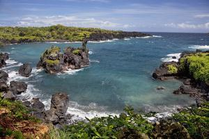 Hawaii, Maui, Hana, View of the Waianapanapa Coastline by Design Pics Inc