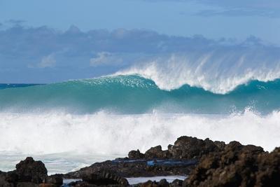 Hawaii, Maui, Laperouse, Beautiful Blue Ocean Wave