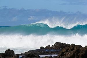 Hawaii, Maui, Laperouse, Beautiful Blue Ocean Wave by Design Pics Inc
