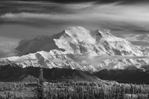 Infrared Image of Mt. Mckinley's North Face (Wickersham Wall), Denali National Park by Design Pics Inc