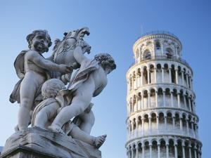 Leaning Tower of Pisa with Statue by Design Pics Inc
