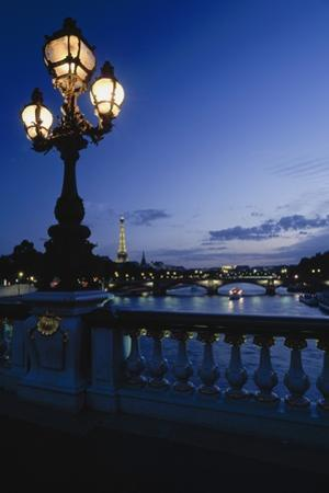 Looking from the Pont Alexandre Iii Down the Seine to the Eiffel Tower by Design Pics Inc