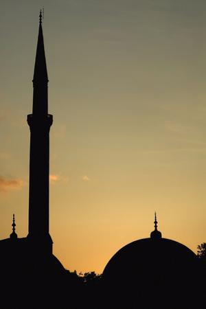 Minaret and Dome of the Blue Mosque at Dusk by Design Pics Inc