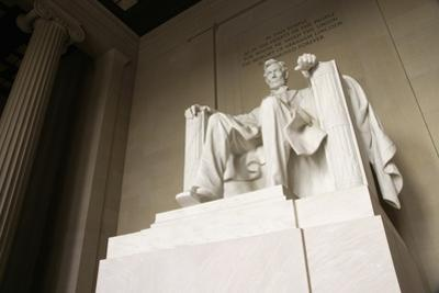 Monumental Statue of Abraham Lincoln in the Lincoln Memorial