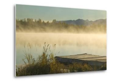 Morning Mist Rises on 6 Mile Lake Sc Ak Autumn Elmendorf Airforce Base