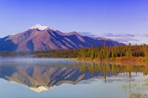 Mountains Reflect in Drashner Lake Just Off the Denali Highway Southcentral Alaska Autumn by Design Pics Inc