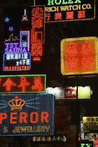 Neon Signs on Nathan Road, Close Up by Design Pics Inc