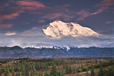 North Face of Denali at Sunset as Seen from the Wonder Lake Campground in Denali National Park by Design Pics Inc