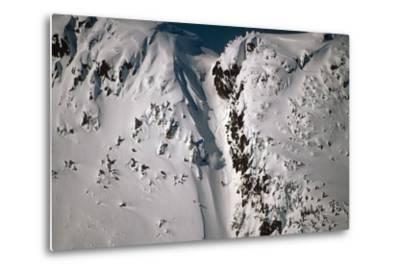 Person Snowboarding Down Chute at Eaglecrest Ski Resort Douglas Isl Near Juneau Alaska Se Winter
