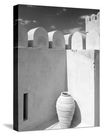 Pottery Urn Inside Crenellated Walls of Nakhal Fort; Nakhal, Hajar, Oman