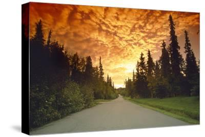 Road Going into Sunset Rural Anchorage Sc Ak Summer by Design Pics Inc