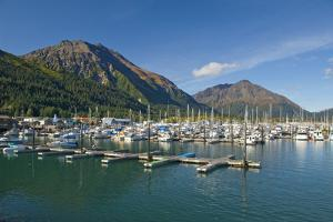 Scenic View of the Seward Small Boat Harbor on Resurrection Bay on a Sunny Day, Kenai Peninsula by Design Pics Inc